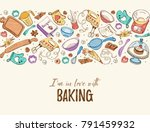 i am in love with baking.... | Shutterstock .eps vector #791459932