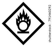 oxidizing hazardous warning... | Shutterstock .eps vector #791460292