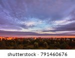 sky with clouds at sunrise over ... | Shutterstock . vector #791460676