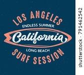 calofornia long beach surf... | Shutterstock .eps vector #791462542