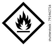 flammable hazardous warning... | Shutterstock .eps vector #791462716