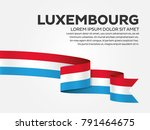 luxembourg flag background | Shutterstock .eps vector #791464675