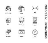 9 user interface line icons | Shutterstock .eps vector #791470102