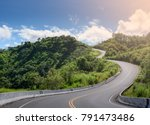 s curve road up to the hill... | Shutterstock . vector #791473486
