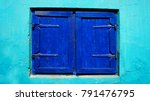 shutters on the window. close... | Shutterstock . vector #791476795
