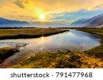 sunrise at nubra valley  leh...   Shutterstock . vector #791477968