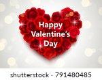 valentines day design  heart... | Shutterstock .eps vector #791480485