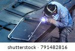 welding with sparks by gas... | Shutterstock . vector #791482816