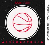 basketball ball line icon | Shutterstock .eps vector #791493682