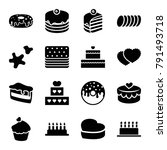 cake icons. set of 16 editable... | Shutterstock .eps vector #791493718