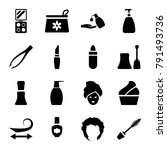 cosmetic icons. set of 16... | Shutterstock .eps vector #791493736