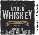 original label typeface named ...   Shutterstock .eps vector #791494846