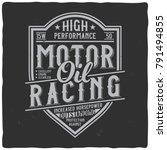vintage label design with...   Shutterstock .eps vector #791494855