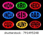 a collection of family  3d... | Shutterstock .eps vector #791495248