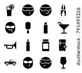 cool icons. set of 16 editable... | Shutterstock .eps vector #791495326