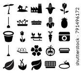 plant icons set of 25 editable