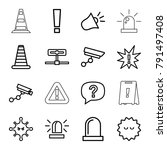 Attention Icons. Set Of 16...