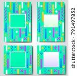 abstract geometric green... | Shutterstock .eps vector #791497852