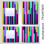 abstract geometric lined... | Shutterstock .eps vector #791497855