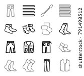 cotton icons. set of 16... | Shutterstock .eps vector #791498512