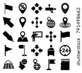 pointer icons. set of 25... | Shutterstock .eps vector #791498662