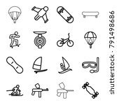 extreme icons. set of 16... | Shutterstock .eps vector #791498686