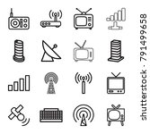 antenna icons. set of 16... | Shutterstock .eps vector #791499658