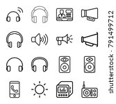 speaker icons. set of 16... | Shutterstock .eps vector #791499712