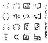 speaker icons. set of 16... | Shutterstock .eps vector #791499712