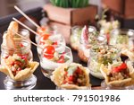 buffet catering  on the table. | Shutterstock . vector #791501986
