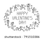 valentine day greeting card... | Shutterstock .eps vector #791510386