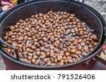 Close Up Of Roasting Chestnuts...