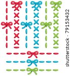 set of colorful vector stitches ... | Shutterstock .eps vector #79153432