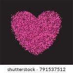 heart on black background....   Shutterstock .eps vector #791537512