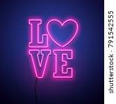 valentines day background.... | Shutterstock .eps vector #791542555