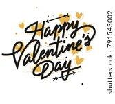 happy valentine's day lettering ... | Shutterstock .eps vector #791543002