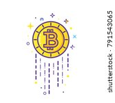 bitcoin logo. cryptocurrency... | Shutterstock .eps vector #791543065