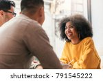 group of happy friends chatting ...   Shutterstock . vector #791545222