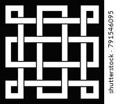 oriental knot illustration   Shutterstock . vector #791546095