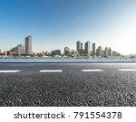 empty asphalt road front of... | Shutterstock . vector #791554378