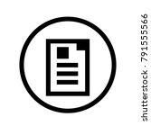 document icon. business symbol. ...