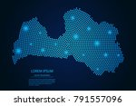 abstract image latvia map from... | Shutterstock .eps vector #791557096
