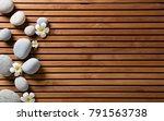 zen pebbles and spa flowers set ... | Shutterstock . vector #791563738