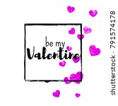 valentines day card with pink... | Shutterstock .eps vector #791574178
