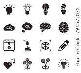 solid black vector icon set  ... | Shutterstock .eps vector #791575072