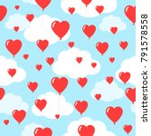 Seamless Pattern With Many Red...