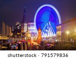 st. lambert church  and wheel... | Shutterstock . vector #791579836