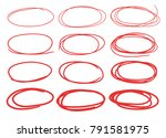 hand drawn set of objects for...   Shutterstock .eps vector #791581975