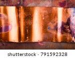 excellent textured copper metal ... | Shutterstock . vector #791592328