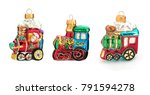 red and gold christmas toys... | Shutterstock . vector #791594278